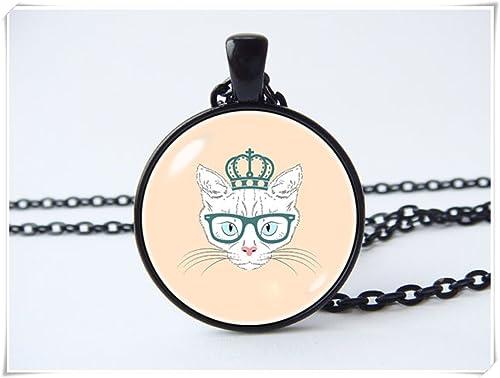 JUN Collar de gato gatos, joyería para gatos, joyería para mascotas, regalo para novia, lindo gato collar regalo para amantes de los gatos: Amazon.es: ...