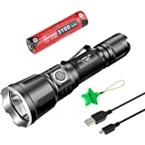 Klarus XT11X Rechargeable Tactical Flashlight Cree XHP70.2 3200 Lumens LED Flashlight High Lumens With Battery