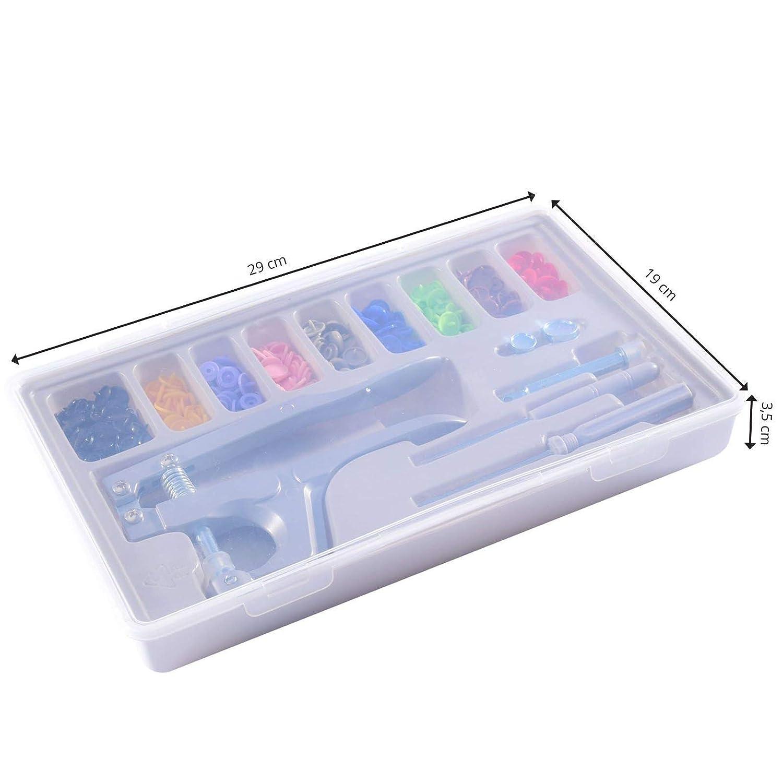 Papel para Manualidades y Proyectos DIY en Tela Vaessen Creative Kit Snap Fastener Botones a Presi/ón sin Necesidad de M/áquina de Coser 9 Colores Brillantes Multicolor 12 mm Fieltro y M/ás