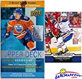 2016/17 Upper Deck Series 1 NHL Hockey EXCLUSIVE Factory Sealed Blaster Box with 12 Packs PLUS Bonus Connor McDavid Rookie! Box Includes TWO(2) Young Guns Rookies! Look for Austin Mathews RC! Wowzzer