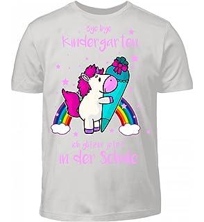 Kinder T Shirt Schulanfang Mit Spruch Sternenstaub Pink Einhorn