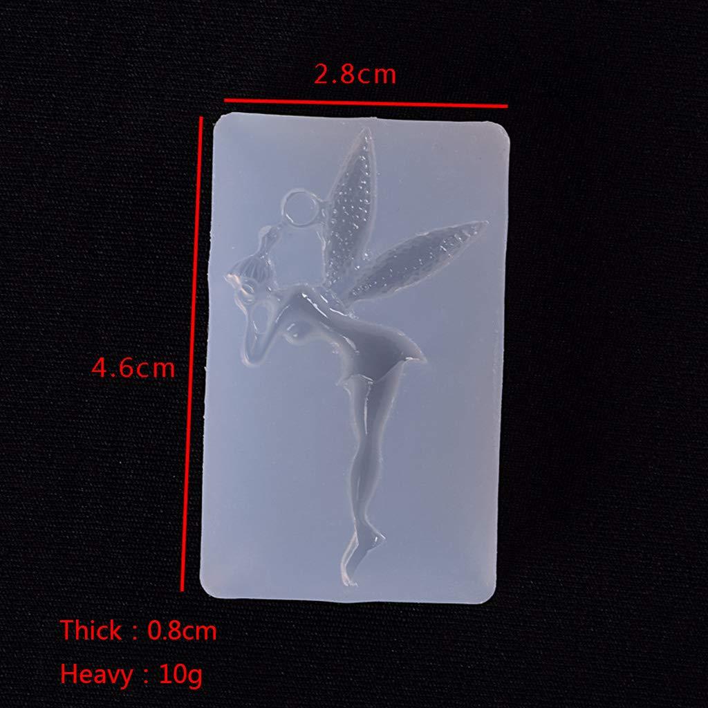 spille accessorio per gioielli manuale Stampo in silicone a forma di fatina di elfo 3D Viesky per lavori creativi in resina epossidica UV ciondoli fai da te