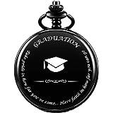 SIBOSUN Graduation for Him - Pocket Watch - Engraved Graduation– Perfect College/High School Graduation or for Son | Him | for Classmates