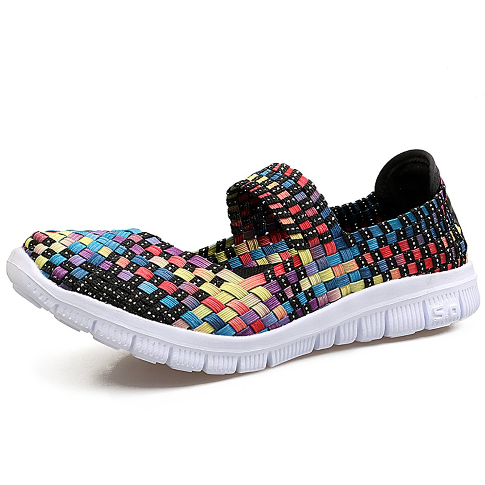 YMY Women's Woven Sneakers Casual Lightweight Sneakers - Breathable Running 8.5 Shoes B07DXX536M US B(M) 8.5 Running Women|Color bf5cf5