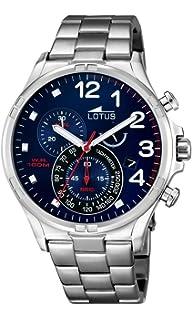 09ba29111 Lotus Reloj Cronógrafo para Hombre de Cuarzo con Correa en Acero Inoxidable  10126/3