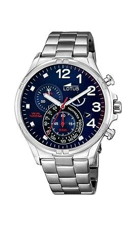 6ba85cc9105b Lotus Reloj Cronógrafo para Hombre de Cuarzo con Correa en Acero Inoxidable  10126 3  Amazon.es  Relojes