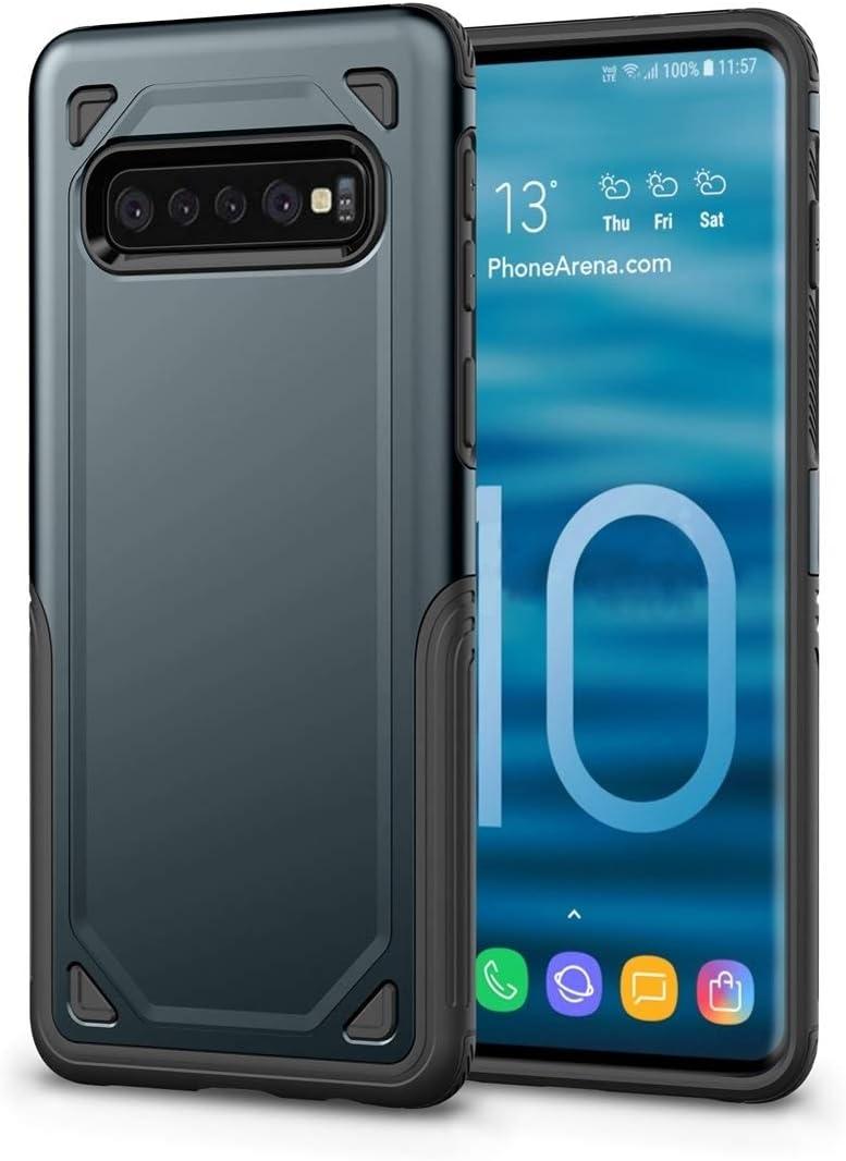 Funda estanca para teléfono móvil Caja del Teléfono A Prueba De Choques Rugoso del Caso Armadura Protectora For Galaxy S10 5G (Verde del Ejército) (Color : Navy Blue): Amazon.es: Electrónica