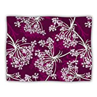 "Kess InHouse Suzie Tremel ""Squiggly Floral"" Pink White Pet Blanket, 60 by 50-Inch"