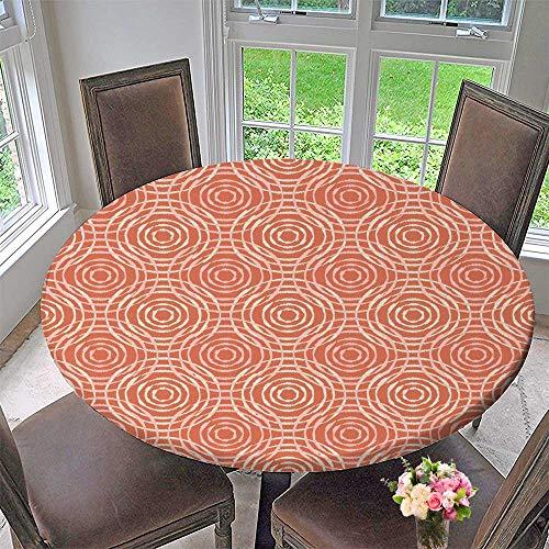 Blackjack Premium Leather - PINAFORE HOME Round Premium Tablecloth Ethnic Boho Print Repeat Background Cloth Design Wallpaper Stain Resistant 31.5