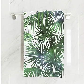 Ahomy Toalla de Playa con diseño de Hojas de Palmera Tropicales, Toalla de Microfibra Grande
