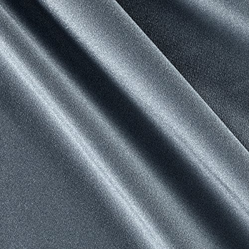 Ben Textiles Activewear Spandex Knit Solid Fabric by the Yard, Silver