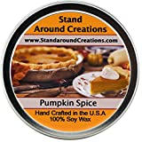 Premium 100% All Natural Soy Wax Aromatherapy Candle - 6 oz Tin Pumpkin Spice: A true-to-life fragrance bursting with fresh pumpkin. Mouthwatering notes of butter, sugar, and spices complete this irresistible bakery fragrance.