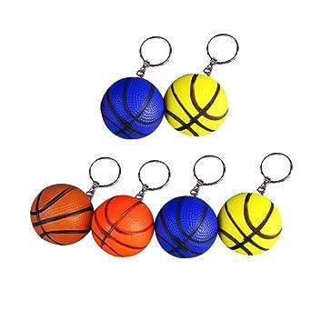 BESPORTBLE - 6 llaveros de baloncesto para colgar en bolsa de ...
