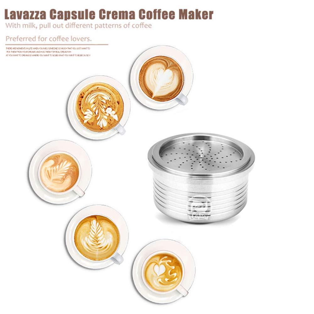 Compatible LAVAZZA A MODO MIO, Capsule i Cafilas Capsule de Caf/é R/éutilisable Inox LAVAZZA Blue dosette de Caf/é Rechargeable pour Machine LAVAZZA a Modo Mio LAVAZZA Espresso Point
