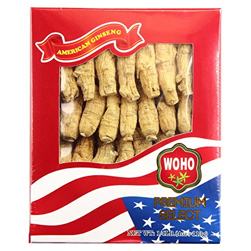 WOHO #132.4 American Ginseng Half Short Medium 4oz Box