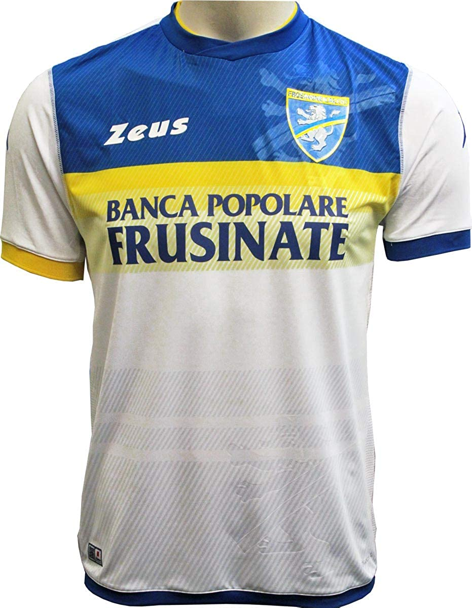 new product 437ac d603a Amazon.com: Frosinone Authentic Away White Jersey 2018-19 ...