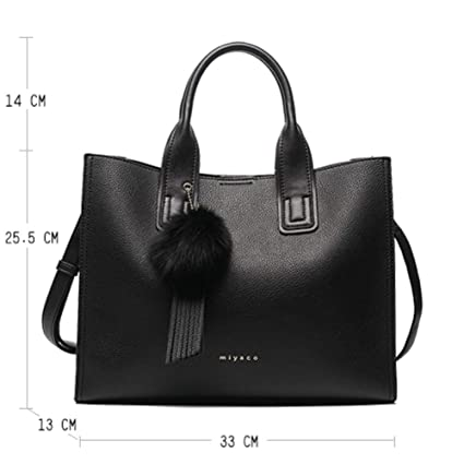 b1d6617df02 Amazon.com: Women Handbag Totes Bags for Women Messenger Bag Purses and Handbags  Leather Top Hand Bag with Fur Ball Tassel: Computers & Accessories