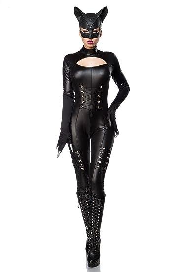 sexy catwoman kostum cat woman superheld held heldin schwarz set karneval s 3xl farbe