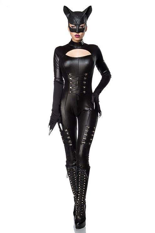 Set completo de disfraz de Catwoman sexi (mono, máscara y guantes)
