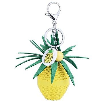 Easya planta frutas piña piel llavero bolso accesorios piña ...