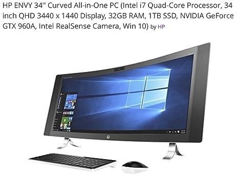 HP ENVY 34 CURVED Desktop 1TB SSD 32GB RAM (Intel Core i7-6700K processor