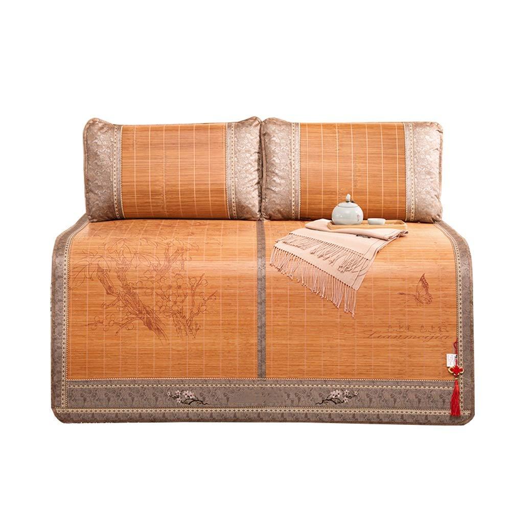 1.2x1.9m YONG FEI Sommerkühlung Bambusmatratze Schlafmatte Bambusmatte Bambusfaltkissen Einzel Doppel-Bambusmatte Sommer-Schlafmatte (Größe   1.2x1.9m)