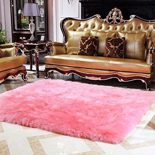 Amazon.com: Rectangle Faux Fur Sheepskin Area Rug Baby Bedroom Fluff ...