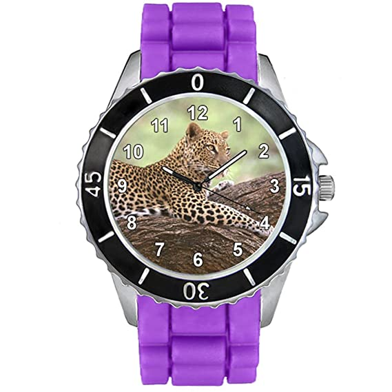 Timest - Jaguar - Unisex Reloj para Hombre y Mujer con Correa de Silicona morado CSE058pu: Amazon.es: Relojes