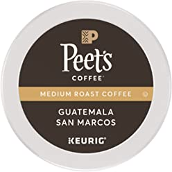 Peet's Coffee K-Cup Pack Guatemala San Marcos, Medium Roast Coffee, 32 Count Single Cup Coffee Pods, Medium Roast Coffee from Guatemala with Notes of Fruit and Milk Chocolate, for Keurig K-Cup Brewers