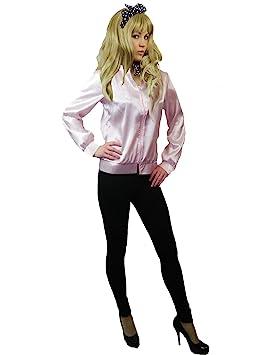 Sexy Pink Ladies Grease Fancy Dress Jacket Size 2XL=14/16 ...