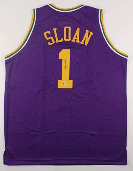 uk availability 138cf 3392b Jerry Sloan Autographed Signed Utah Jazz Jersey Beckett ...