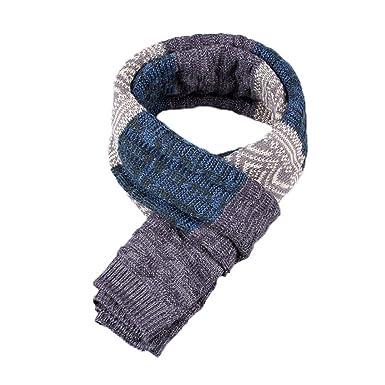 9d5f8a9450c3 Yuson Girl® Echarpe Homme Hiver Longue en Cachemire à Carreaux Chaude avec  Franges Epaisse Doux (A)  Amazon.fr  Vêtements et accessoires