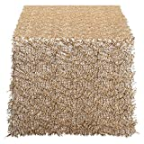 DII Decorative Metallic Sequin Table Runner for Wedding, Holidays, Occasions, and Everyday Décor, 16x120, Gold
