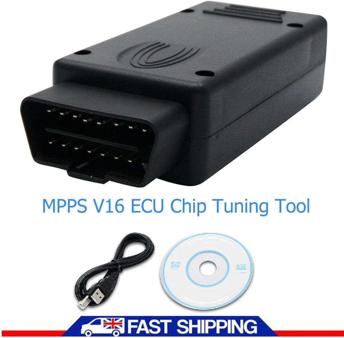 Puce de voiture Tuning CD dernier r/églage de la puce ECU MPPS V16 c/âble USB pour clignotant Remapping Outil pour EDC15 EDC16 EDC17