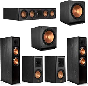 Klipsch5.2.2 Ebony Home Theater System - 2 RP-8060FA, 1 RP-404C, 2 RP-500M, 2 SPL-150 Subwoofers