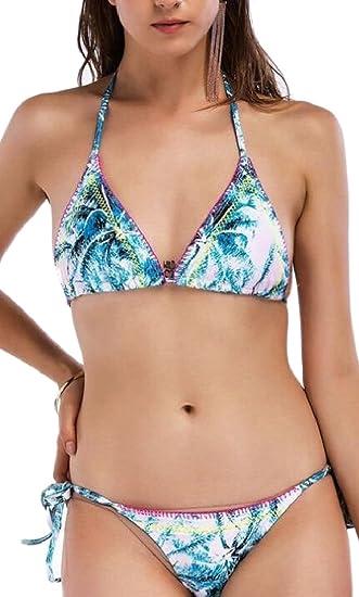 .com: rrinsins women y beach hawaiian printed halter neck ...