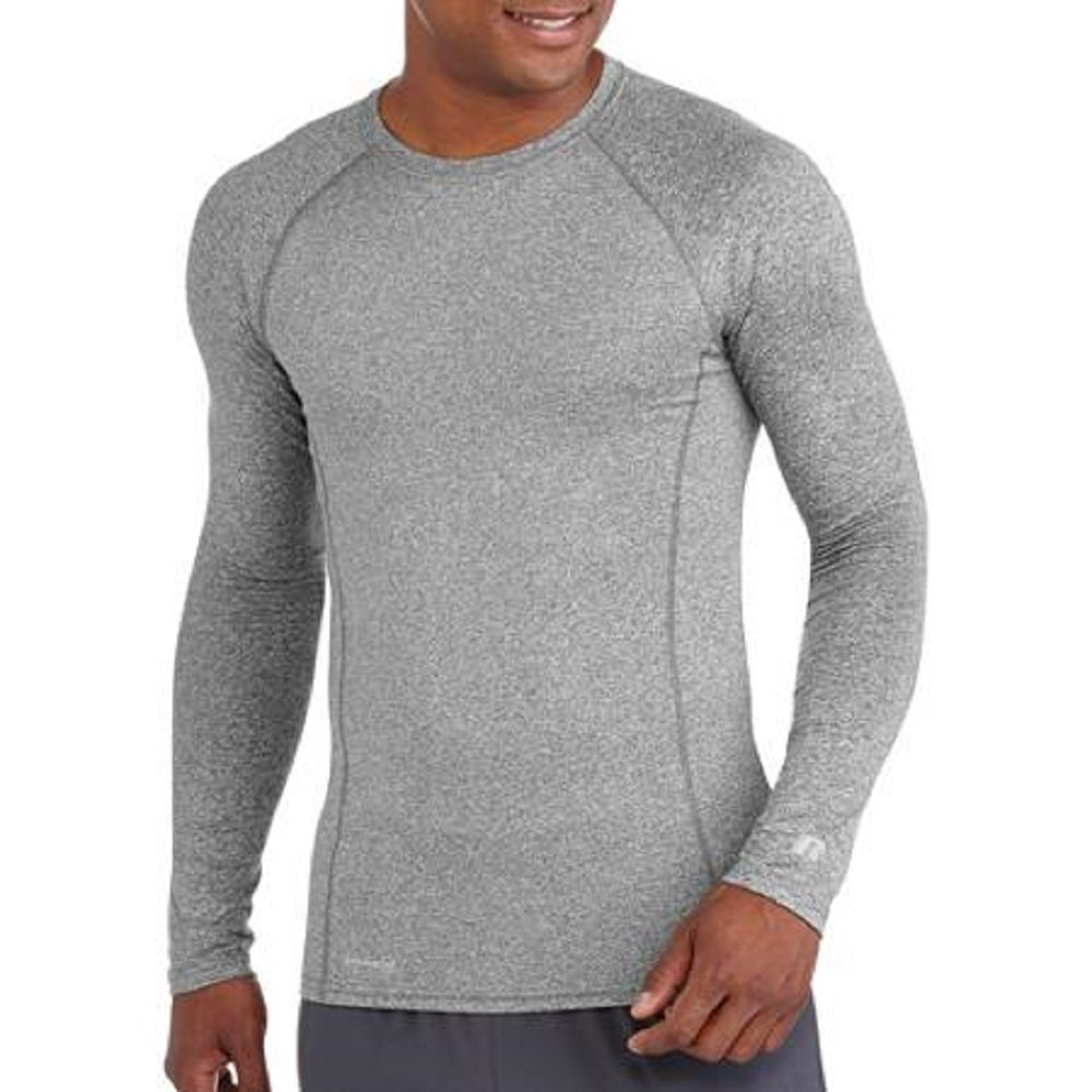 Russell Mens Performance Active Baselayer Thermal Crew Top (X-Large (Chest 46-48), Grey)