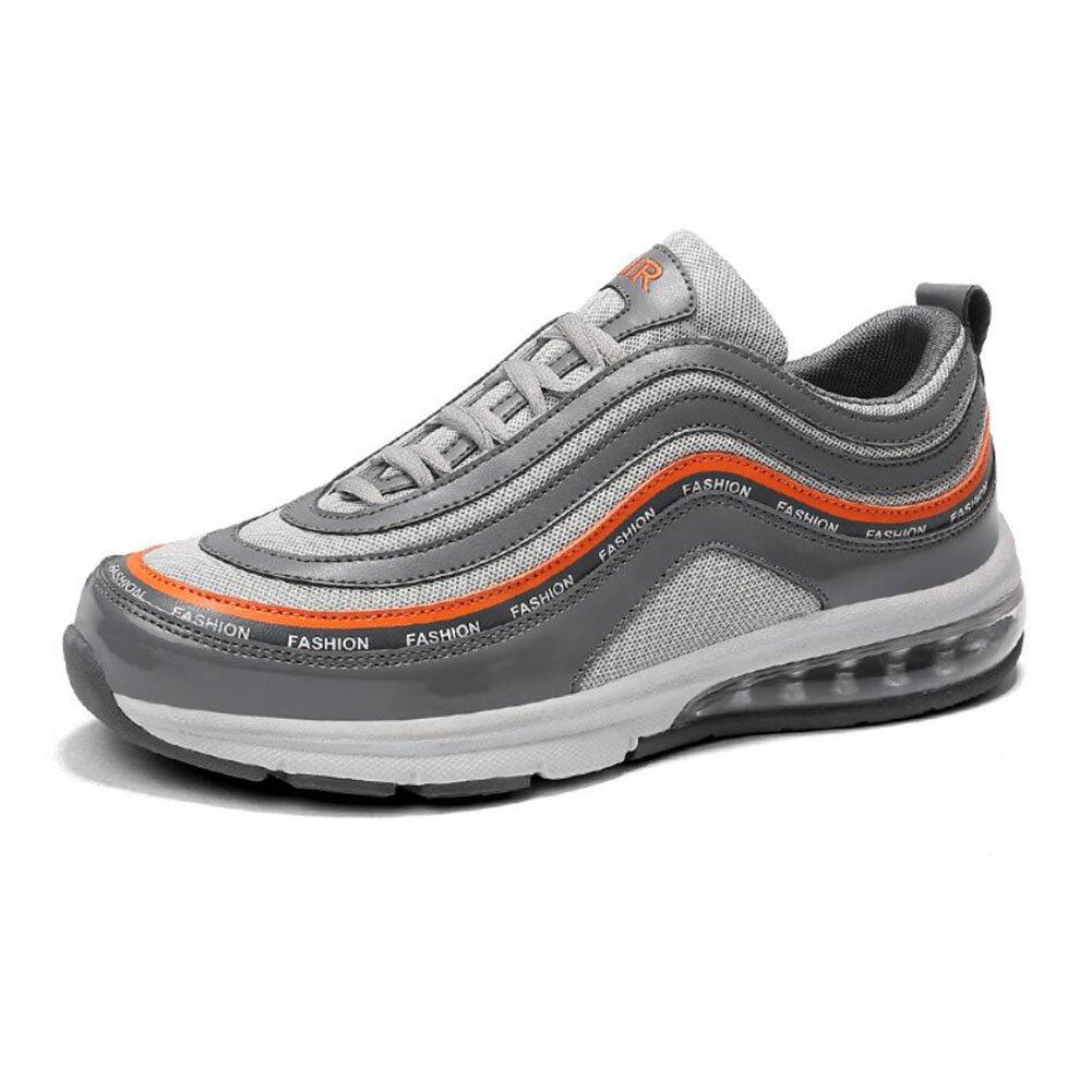 Männer/Frauen Casual Schuhe 2018 Vier Jahreszeiten Atmungsaktive Mesh Turnschuhe Luftpolster Sportschuhe Casual Laufschuhe Liebhaber Reise Schuhe (Farbe : Grau, Größe : 42)