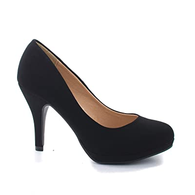 Comfortable Foam Padded Round Toe Classic High Heel Pump | Shoes