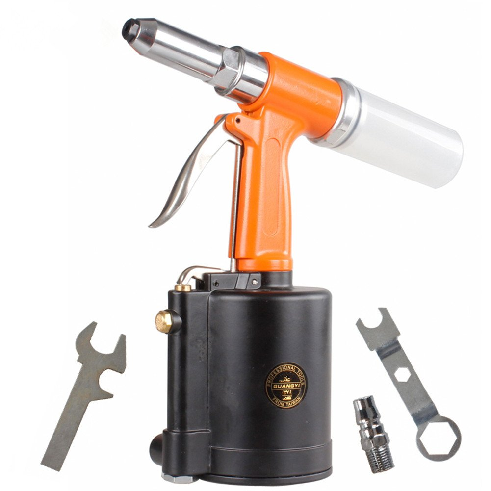 BORNTUN Air Rivet Gun 1/4 Inch Rivet Gun Heavy Duty Pneumatic Hydraulic Rivet Tool (1/4'') by BORNTUN (Image #2)