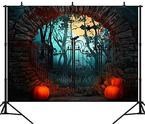 DePhoto 9X6FT(270X180CM) Pumpkin Lamps Halloween Party Theme Customized Seamless Vinyl Photography Backdrop Photo Background Studio Prop PGT141B for $<!--$29.99-->