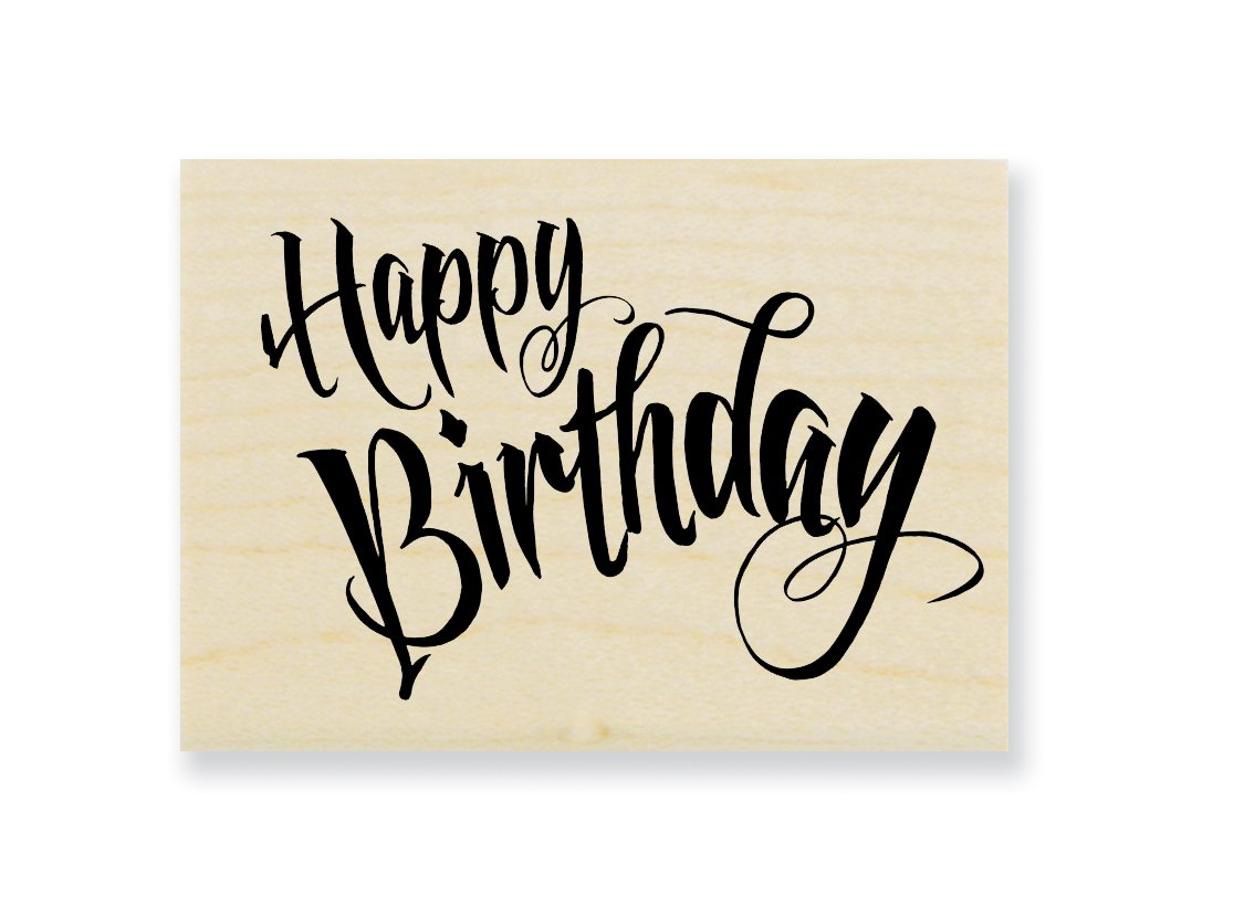 Stampendous Penned Birthday Rubber Stamp
