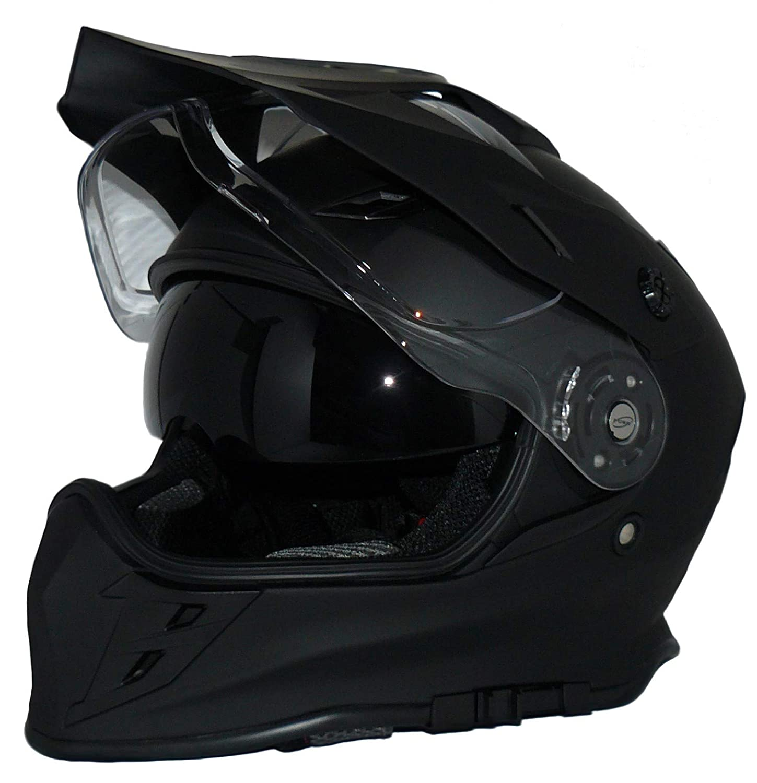 protectWEAR Crosshelm Endurohelm Motorradhelm mit integrierter Sonnenblende und Visier V331-SM-XL