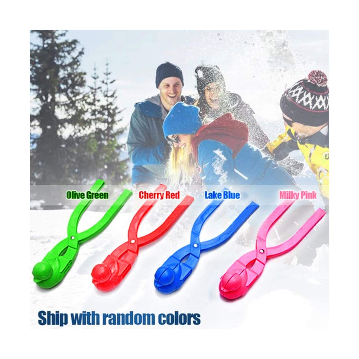 LLguz Snow Making Mold Clip Duck Shape Sand Snowball Maker Mould Toys Play Tool for Winter Kids,8.2x2.3x1.5 Blue