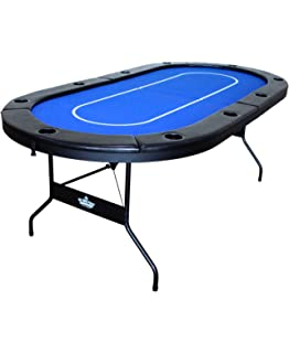 Hot Hand Poker Supply Folding Poker Table For 10 Players With Water  Resistant, Speed Felt