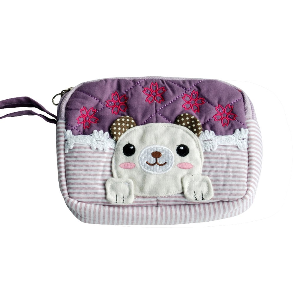 Pretty Dog Embroidered Applique Wallet Purse Pouch 5.13.91.1