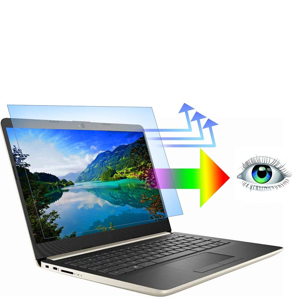 "AyaWico 2PC Pack 15.6 inch Blue Light Blocking Laptop Screen Protector, Blue Light Filter for Notebook Computer Screen 15.6"" Display 16:9"