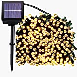 JAR-OWL Solar String Lights Outdoor 72ft 200 LED Solar Powered Outdoor Lights Waterproof Fairy String Lights for Indoor, Patio, Christmas, Gardens, Homes, Wedding, Holiday, Party Decor (Warmwhite)