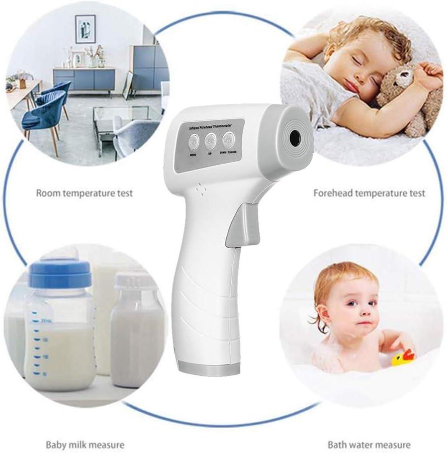 Covermason Fieberthermo/_Meter Kontaktlose Digital Ohr Stirn Thermo-Meter K/örpertherm0meter Baby Erwachsene Grau