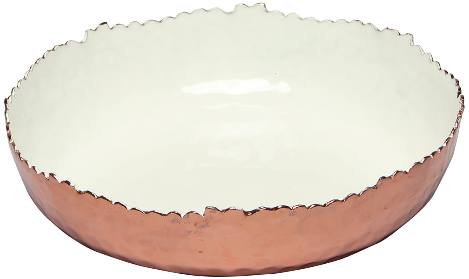 Melange Home Decor Copper Collection Navy Color 11-inch Round Platter
